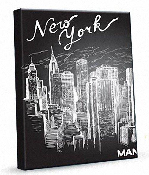 Prostokąt Plakat New York 381 Obraz Na Płótnie
