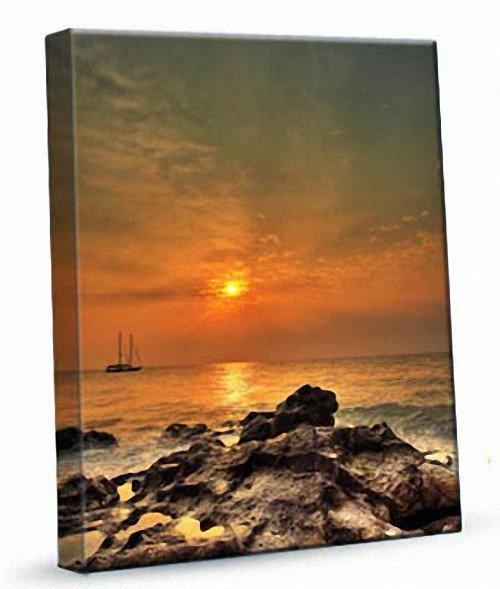 Cudowna Prostokąt - Statek na morzu 462 - obraz na płótnie | dobryobraz.pl HV13